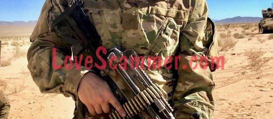Photo volée d'un soldat